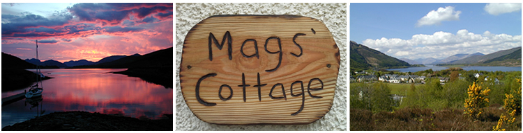 Self catering cottage near Glencoe - Ballachulish Argyll Scotland - Mags Cottage